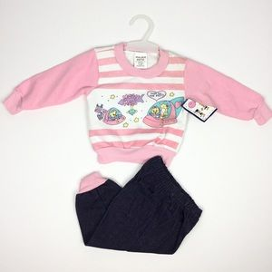 Vintage Little by Little Sweatshirt Set NWT